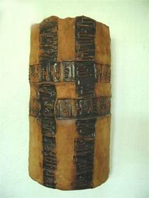 Schriftkreuz, Steinzeug, 40 cm, 2005