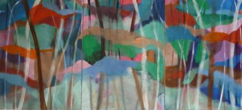 Farbklang B.I. 6,7,8, 2014, Leinwand, 3-teilig, 150x70